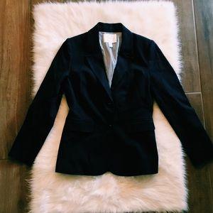 nordstrom | navy blue stretch cotton twill blazer